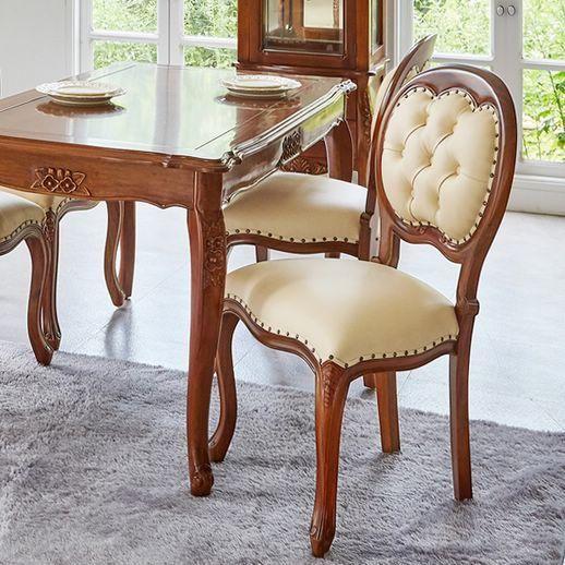 엔틱가구 리옹 의자 아이보리 식탁의자