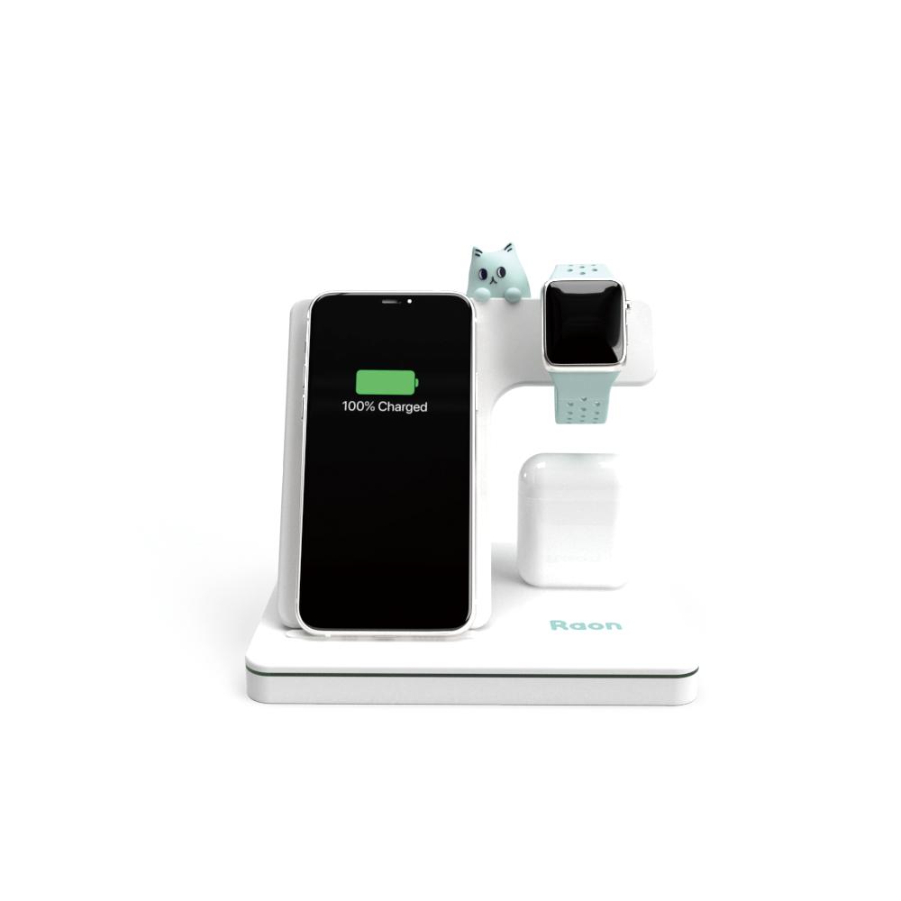 라온 3in1 15W 고속 무선 충전기 충전 스테이션 애플워치 아이폰 에어팟