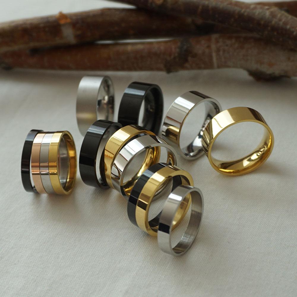 [에피라임] 기본 무지 써지컬 스틸 남자반지 [ 4 size ] 반지