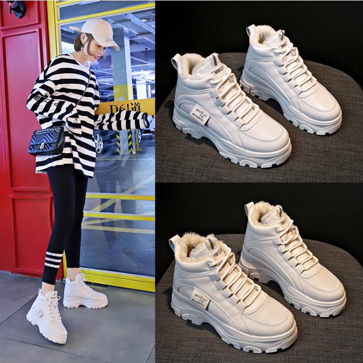 유블리 여자 겨울 방한화 털있는 따뜻한 기모있는 신발 데일리 깔끔한 저렴한 독특한 특이한 스트랩 여성 패션 운동화 도롬이