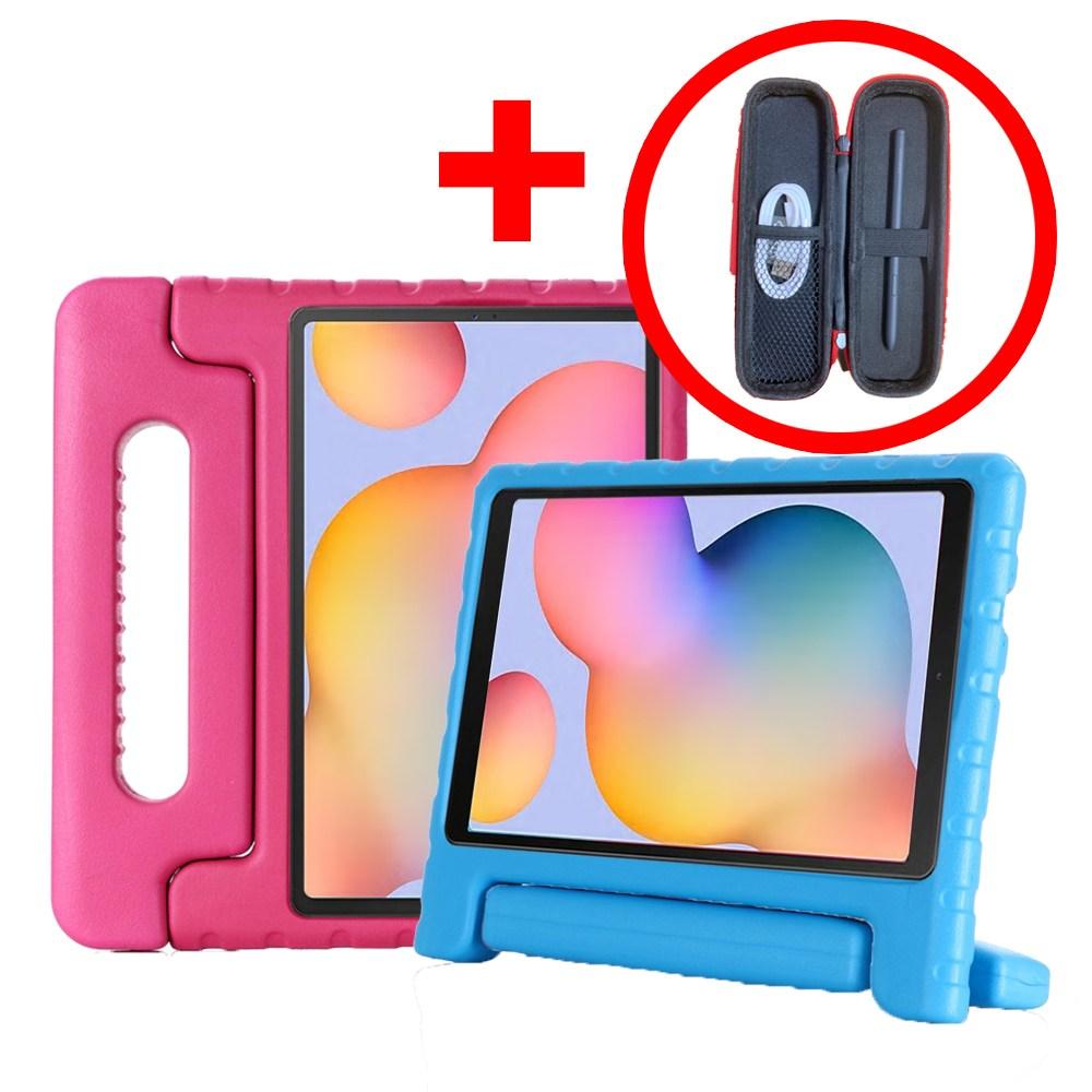 삼성 갤럭시탭S6 라이트 에바폼 케이스 SM-P610 SM-P615 lite, 에바폼케이스(파랑)+펜케이스