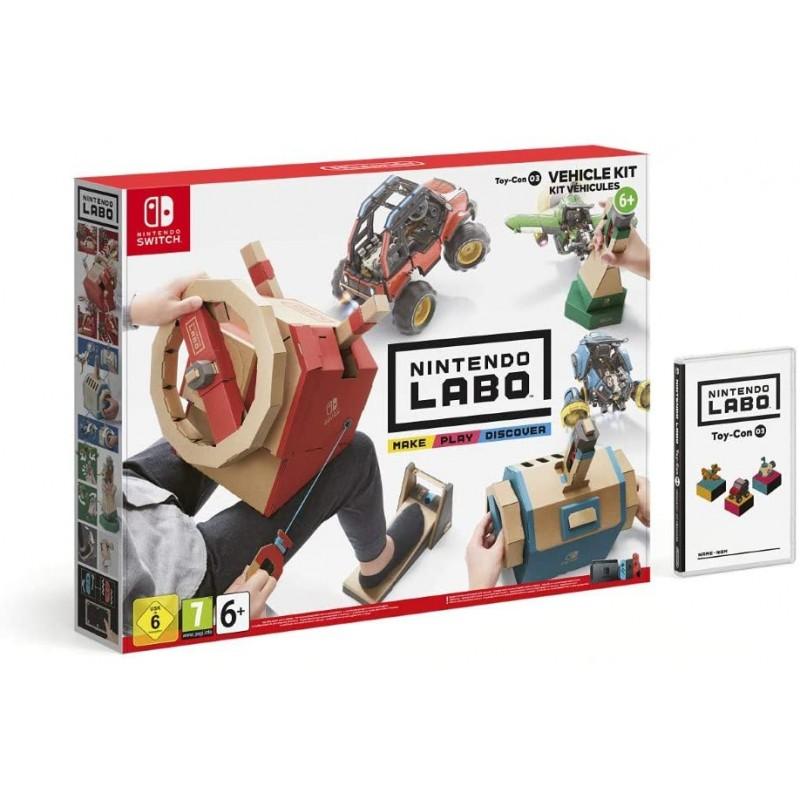 닌텐도 라보: 장난감 콘 03: 차량 세트 - [닌텐도 스위치], 1, 단일옵션