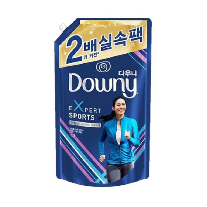 다우니 엑스퍼트 스포츠 섬유유연제 리필, 1.6L, 3개
