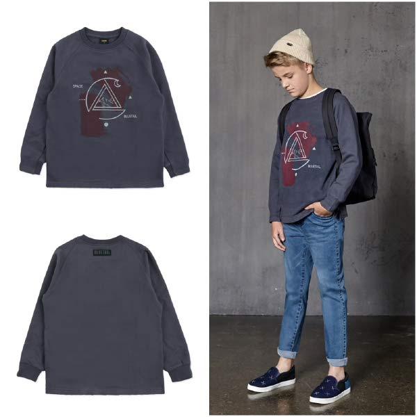 [현대백화점][블루테일]ATG5TS07GY 남아 스포티 유니버스 그레이 레글런 티셔츠