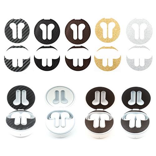 [바보사랑]LG 톤프리 철가루 방지 스티커(2매 세트)HBS-TFN4 5 6, 레더)블랙다크브라운