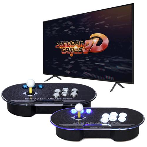 월광보합 12S 분리형 아케이드스틱 한글판 판도라박스 3D 레트로 게임기 가정용 오락실 게임기, 아케이드스틱(1P/2P)SET