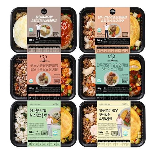 이훈의건강한세상 도시락 혼밥 6종 식단 UP, 12팩, 240g