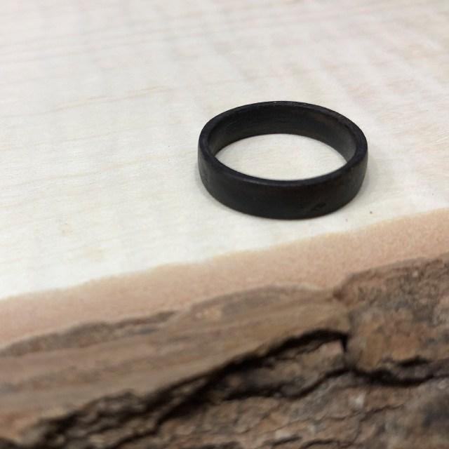 바오밥여우 흑단 나무반지 6~7mm 너비 (각인가능)