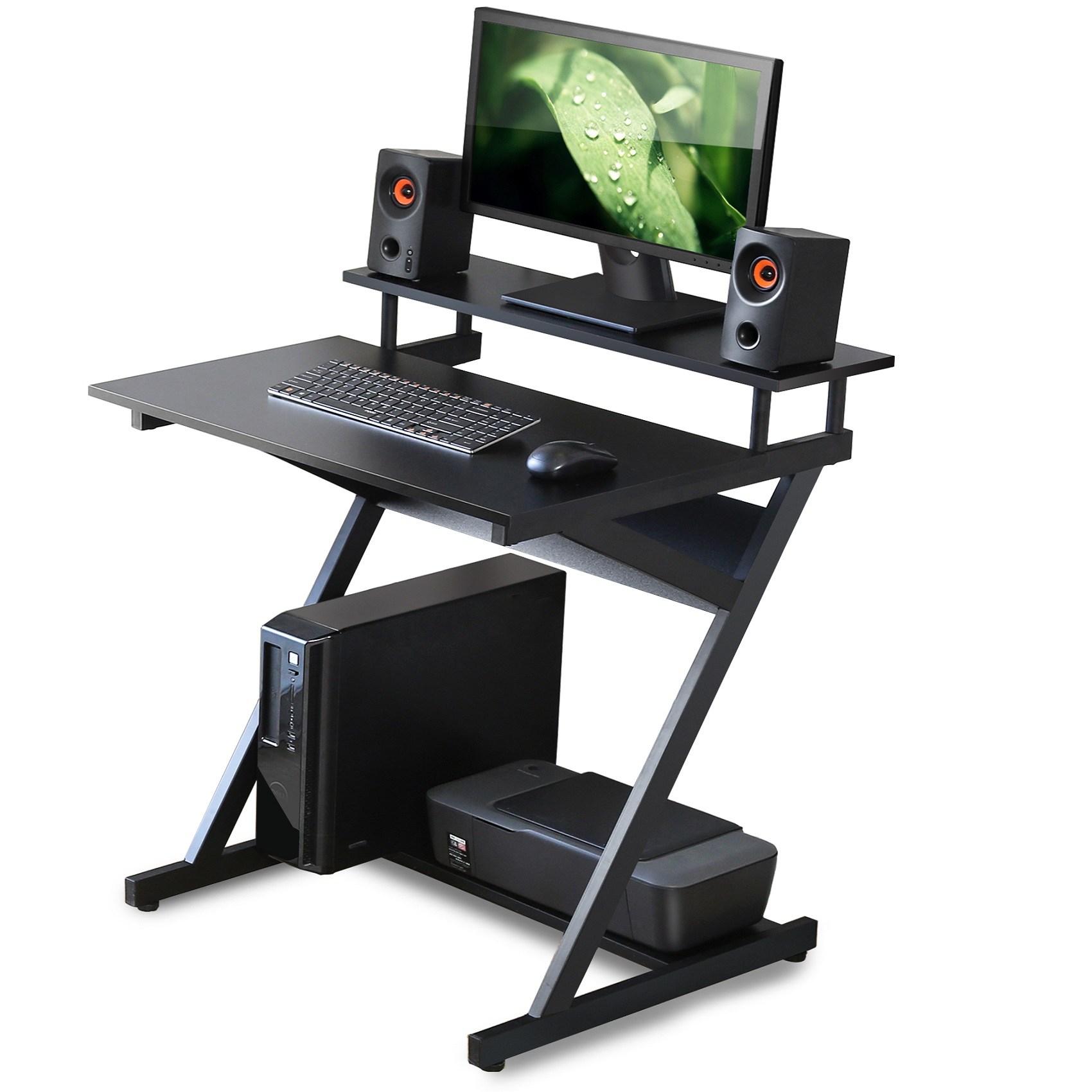 [국내 배송] FITUEYES 1인용책상 컴퓨터책상 학생용책상 테이블 데스크, 블랙 CD307001WB