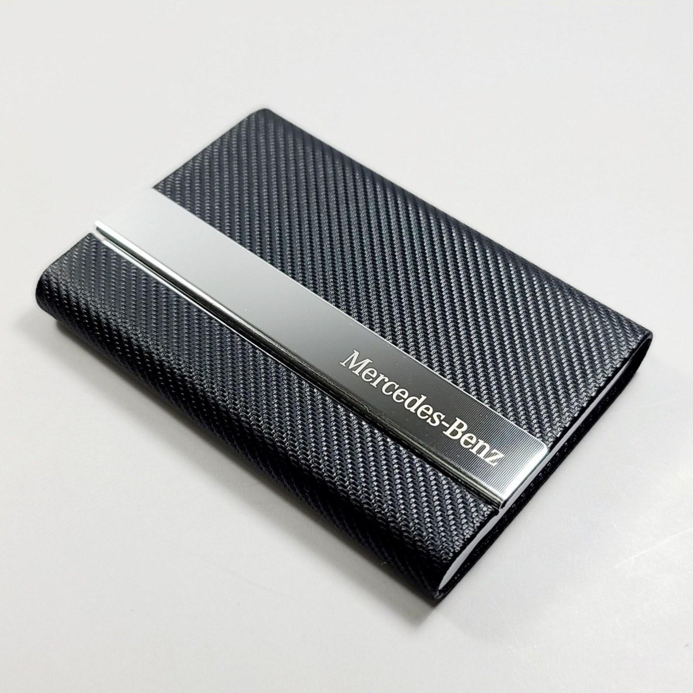 이니셜스 메탈 카드 지갑 선물 박스 포함 이니셜 로고 각인