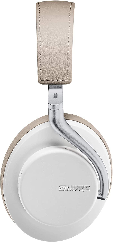 (관부가세별도) Shure AONIC 50 Wireless Noise Cancelling Headphones Premium Studio-Quality Sound Bluetooth 5 Wireless T-B084RZSFCX, Whiteone size