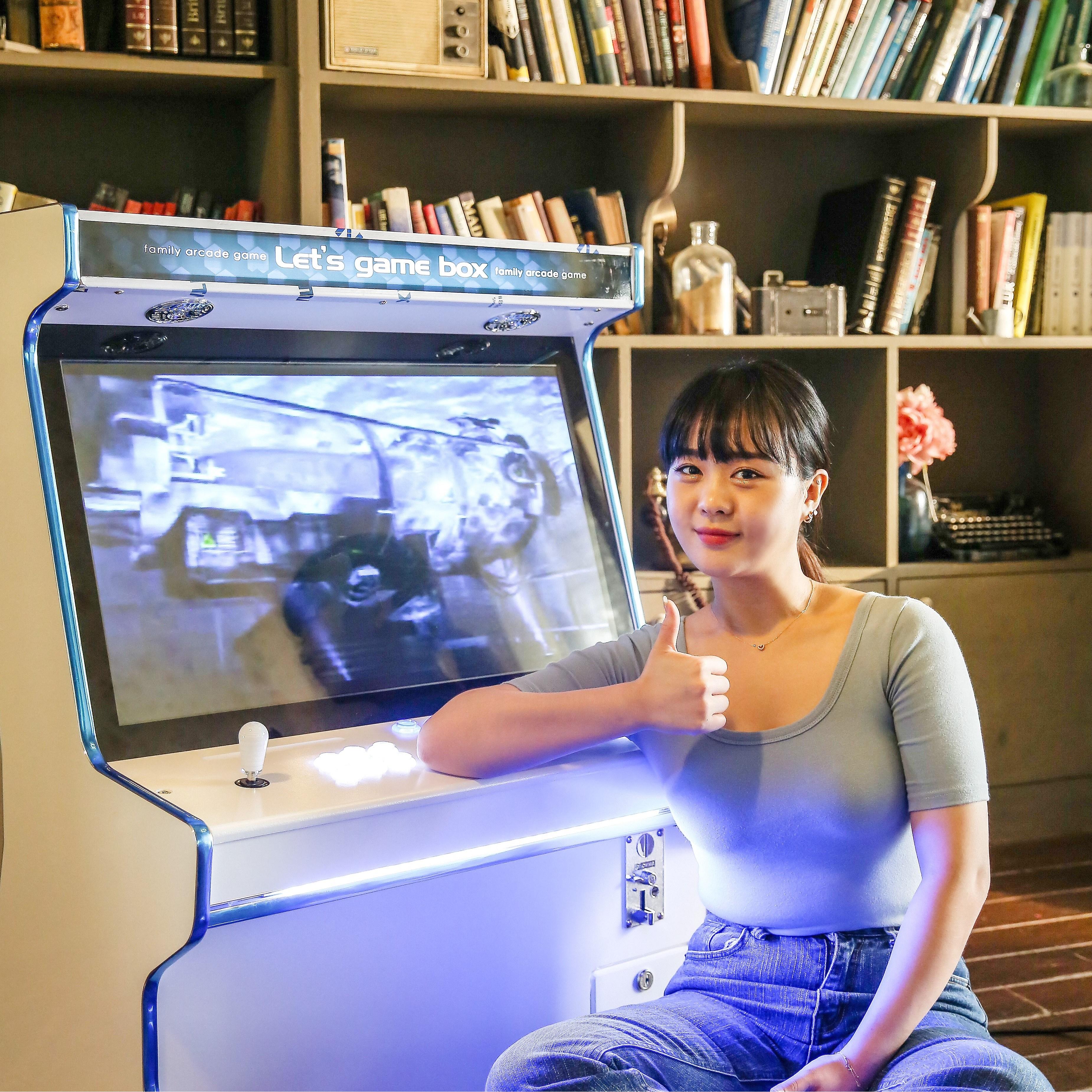 오락실게임기레츠게임박스 뉴트로 가정용 오락실 게임기, 24인치 좌식형