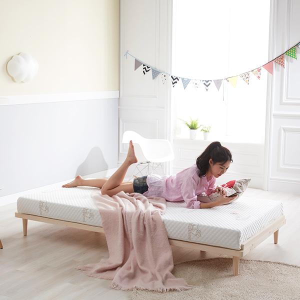 레이디가구 데일리 원목 평상형 통깔판 침대 슈퍼싱글, SS