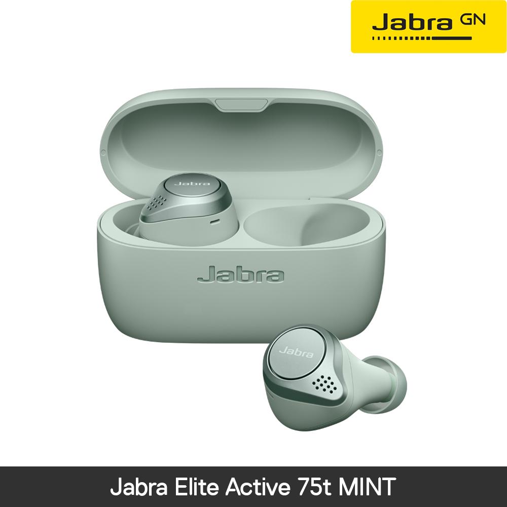 [사은품증점][국내정품][방수기능]자브라 Jabra Elite Active 75t Mint 블루투스 무선이어폰, 시에나