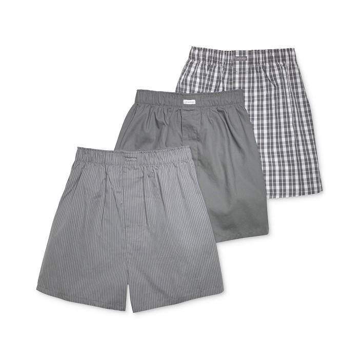 [캘빈클라인][남성]Mens Cotton Classics Woven Boxer 3-Pack U1732속옷/언더웨어/트렁크