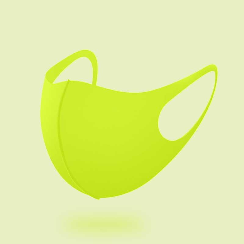 세종케어 국내생산 효성정품 연예인마스크 2+1 귀안아픈 UV항균 3D입체 마스크 패션마스크 숨쉬기편한마스크 운동마스크, 형광그린 3장 1세트