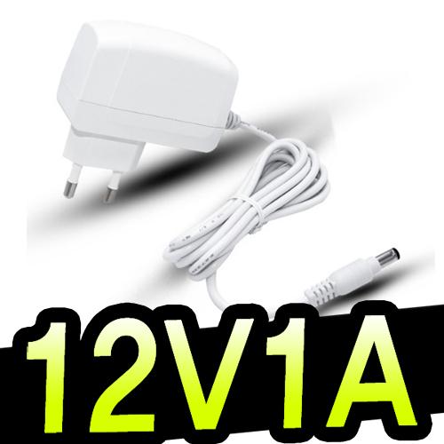 명호전자 DC 12V 0.5A~10A 아답터 모음 500ma 1A 1.5A 2A 3A 3.5A 4A 5A 6A 7A 8A 10A 12A 직류전원장치 파워 전원, 04. 12V1A벽걸이형(흰색)