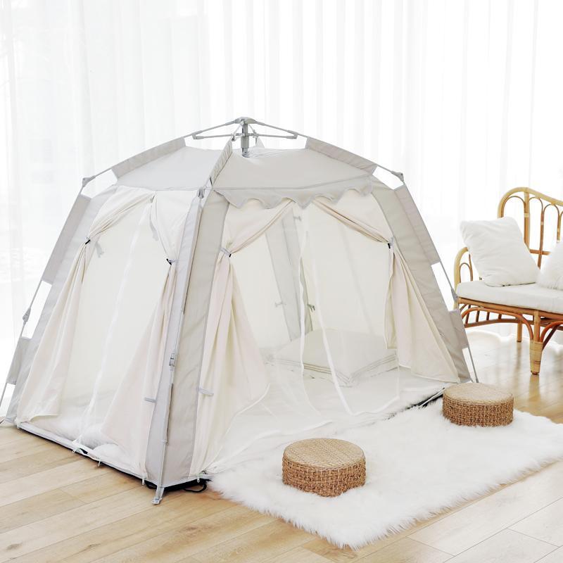 방텐트 자동 텐트 방안 면이너 겨울 성인 보온 방한가정용 침대, 15. 색상 분류: 고급 그레이 세로 19 × 가로 1 × 높이 135 미터 싱글