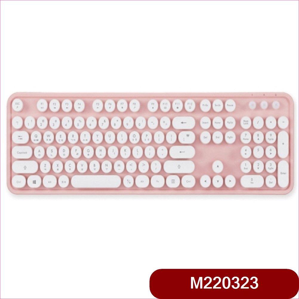 엑토 레트로 무선 키보드 KBD-48 핑크 마우스, 본상품선택, 본상품선택