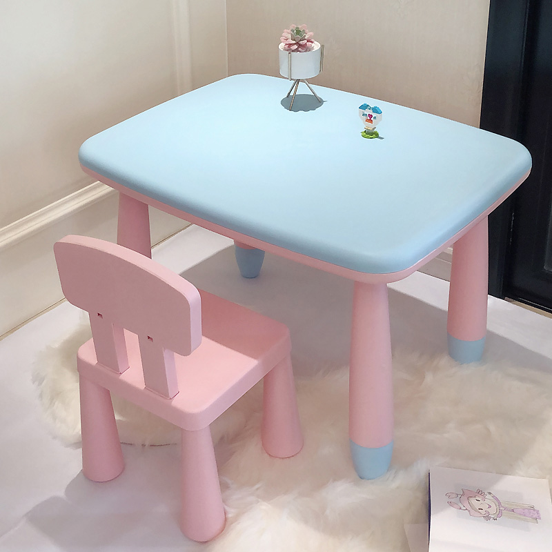 뉴타임즈13 유아테이블 유치원 탁자와 의자 세트 어린이 탁자와 아기 탁자 플라스틱 학습 탁자놀이 탁자와 의자 XT18 A15, 12 블루