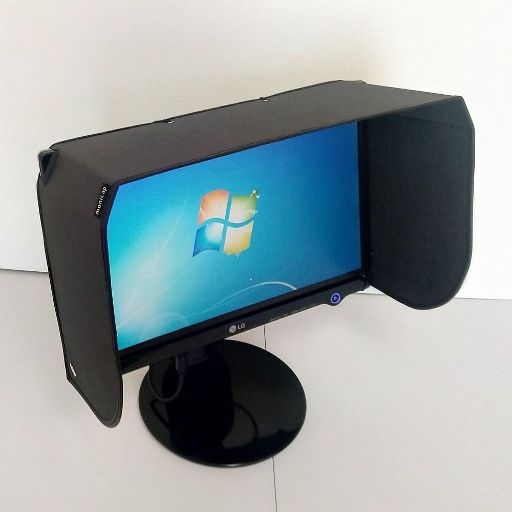 모니캡 모니터후드 와이드 27~32인치 옵션 선택, 1개, 블랙30인치