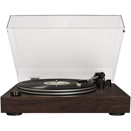 Crosley C8 2-Speed Belt-Driven Turntable with Built-in Switchable Pre-Amp Walnut PROD300023669, 상세 설명 참조0