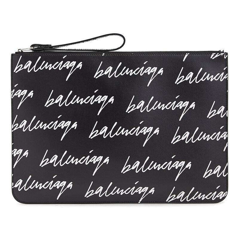 [Balenciaga]로고 캐시 630626 1CB63 1090 공용 클러치/파우치백