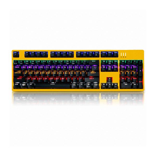 앱코 HACKER K660 축교환 키보드 옐로우 (기계식 광축 클릭), 선택하세요