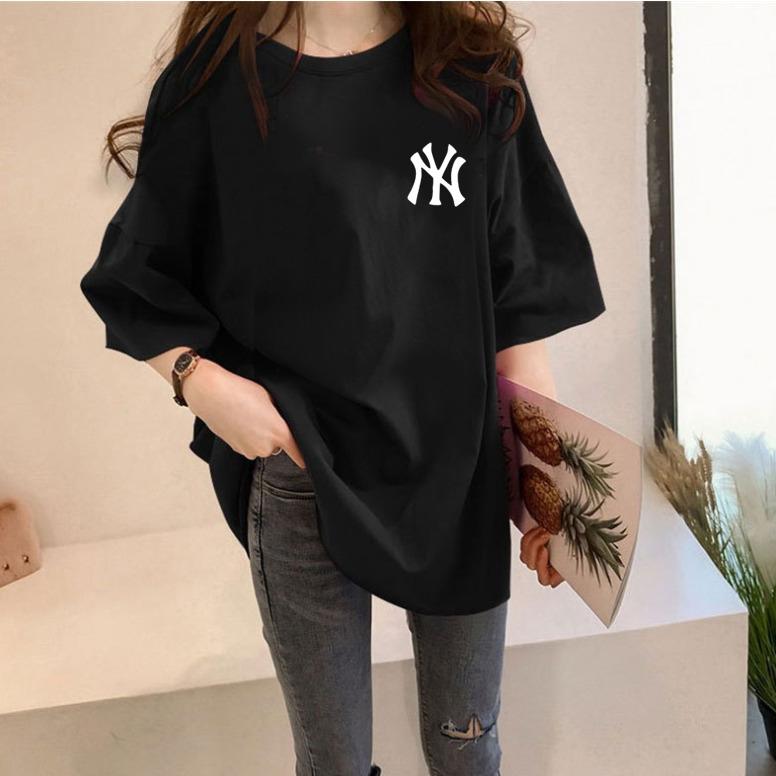 스타일아유 여성용 NY 오버핏 반팔 티셔츠