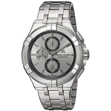 Maurice Lacroix 남성용 Aikon 쿼츠 시계 with 스테인레스 스틸 Strap Silver 23 (모델 : AI1018-SS002-