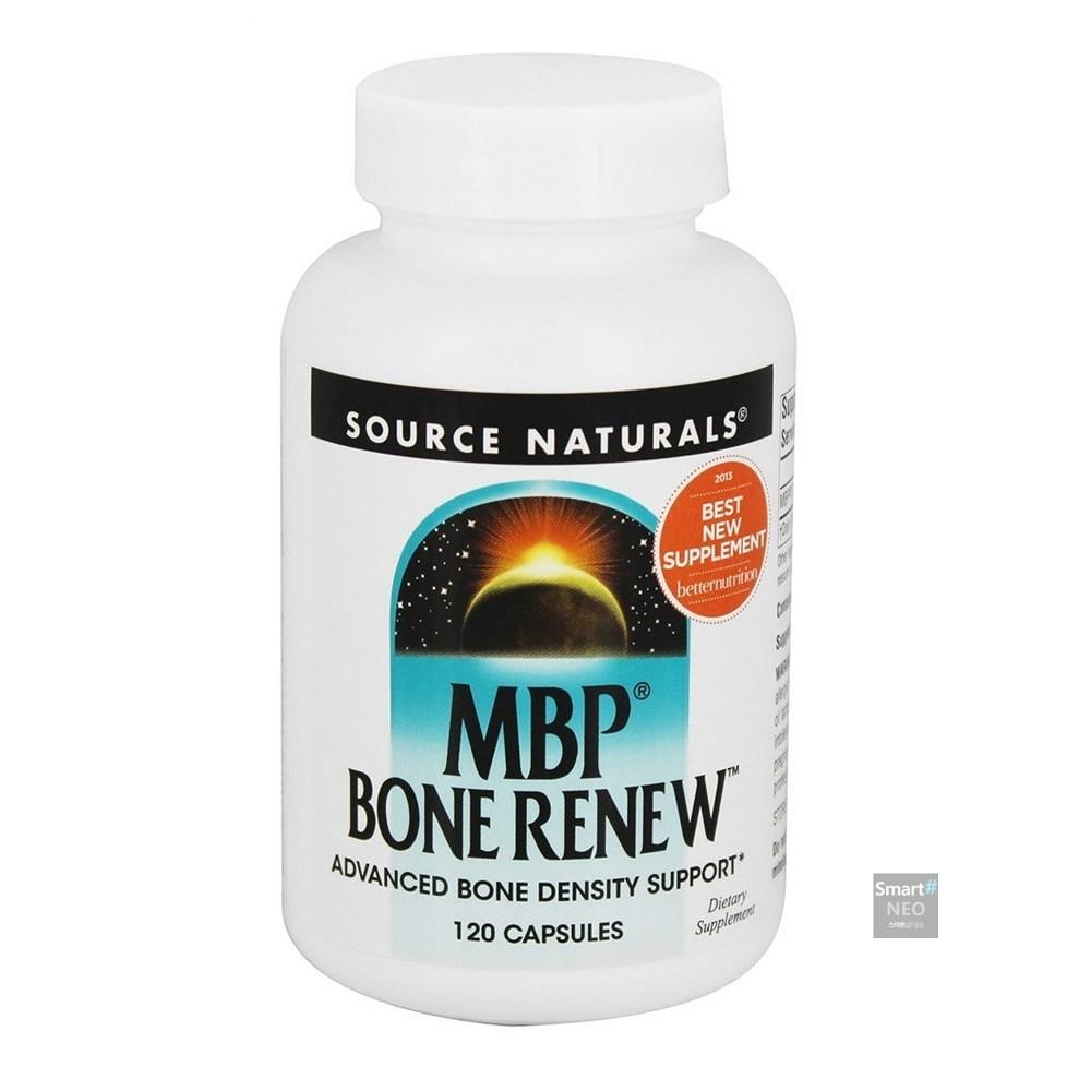 Source Naturals 소스네추럴스 유단백추출물 본리뉴 MBP Bone Renew 120정