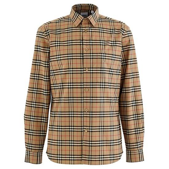 [버버리] 빈티지 체크 스트레치 코튼 남성 셔츠 8020966-4-2177077609