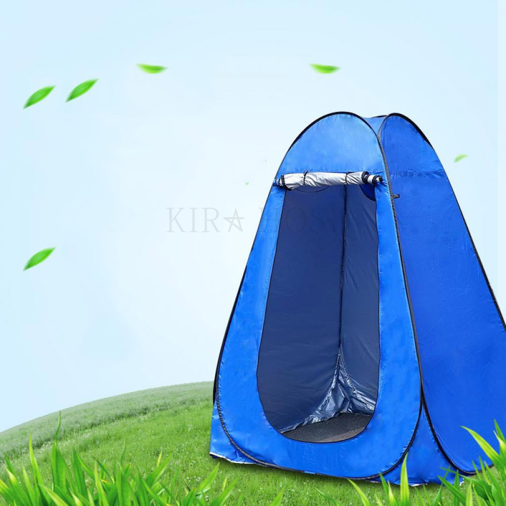 kirahosi 캠핑용품 텐트 캠핑 원터치 팝업 자동 낚시 텐트 D 7 +덧신 증정 ABj6ds9k, 오렌지그레이 1.5m, 1