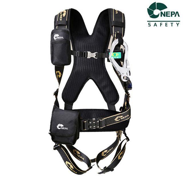 네파 NB-203AR 산업용 전체식 안전벨트 자동릴 용품 죔줄 공구 벤트 보호구, 1개 (POP 1516474931)