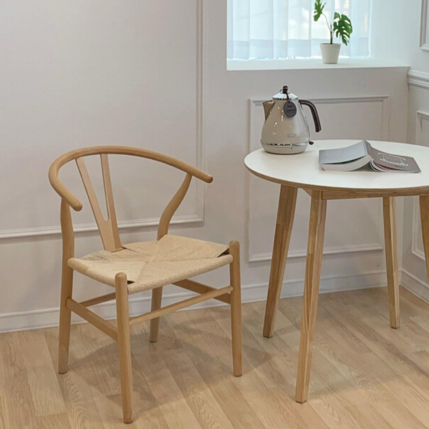 다은담다 레스트 인테리어 원목 라탄 의자, 디자인A 내추럴색상