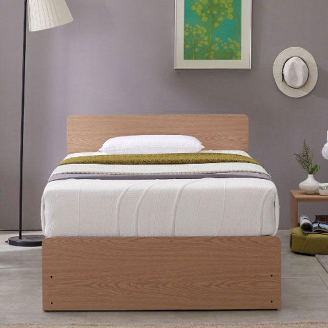 메이비 높은 서랍형 수납 평상형 침대 프레임 SS, 네오마켓 오크