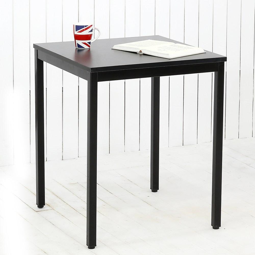 THEJOA 모던테이블 블랙 600 800 1000 1200 1400 카페/업소용/식탁/컴퓨터책상, 모던 600 블랙