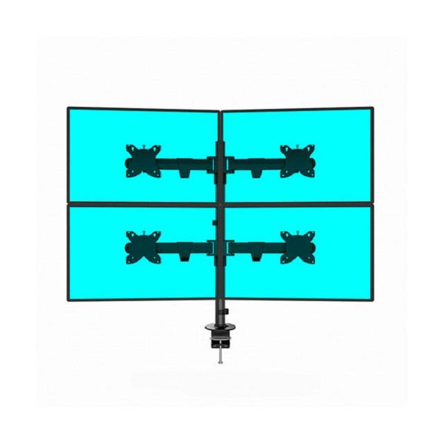 아이존아이앤디 멀티 다중 쿼드 2단 삼각 4대 모니터 암 거치대 10종 32인치까지, 4-7. EZ-MC4-1032(2대/2단)