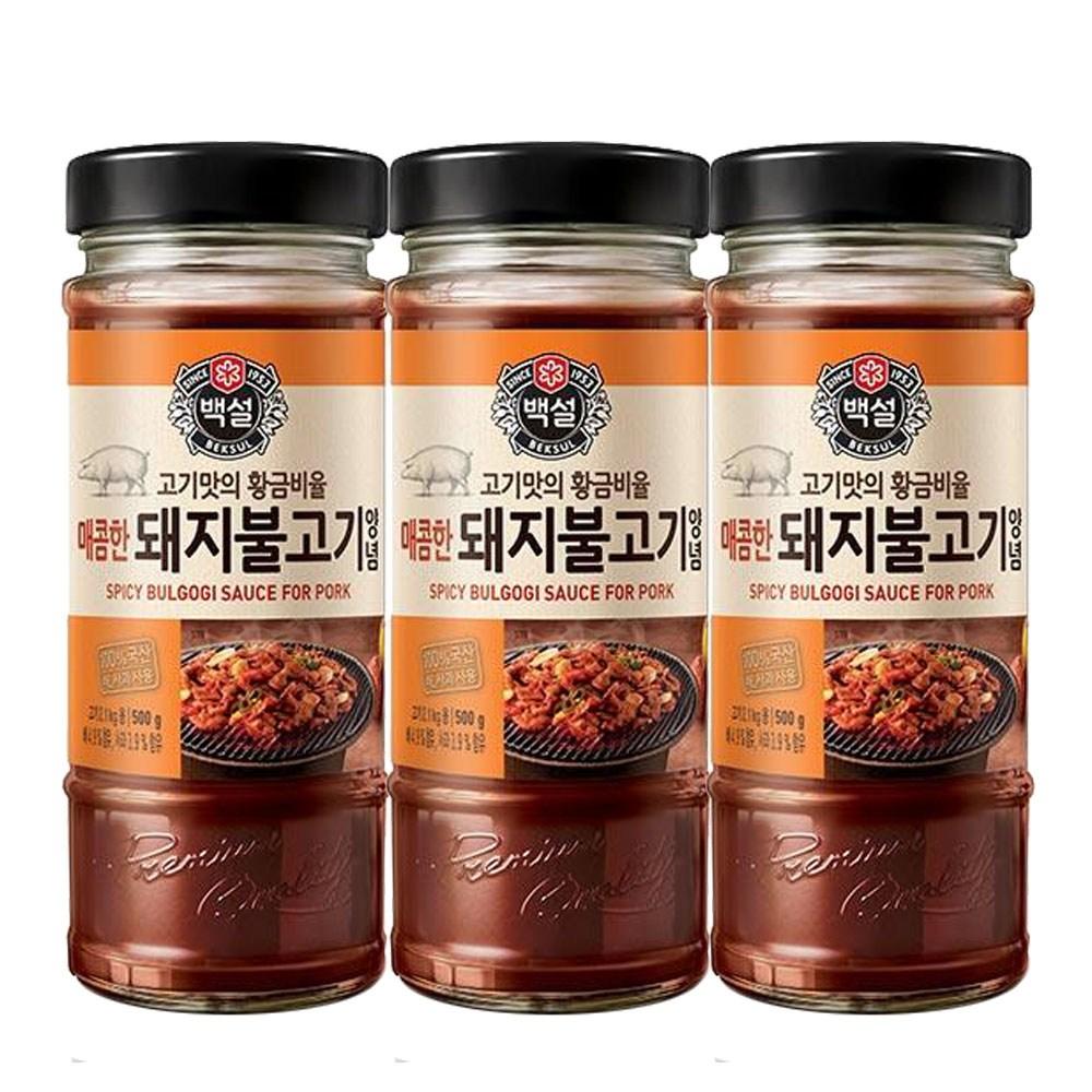 (상온)백설 매콤한 돼지불고기양념500gx3개, 1세트