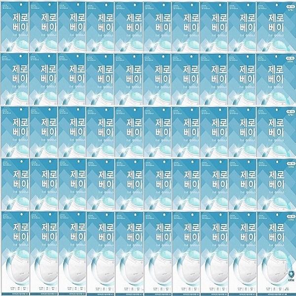 제로베이 KF94 대형 미세먼지 황사 방역마스크 50매 개별포장, 50개