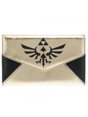 골드 블랙 젤다 로고 봉투 지갑