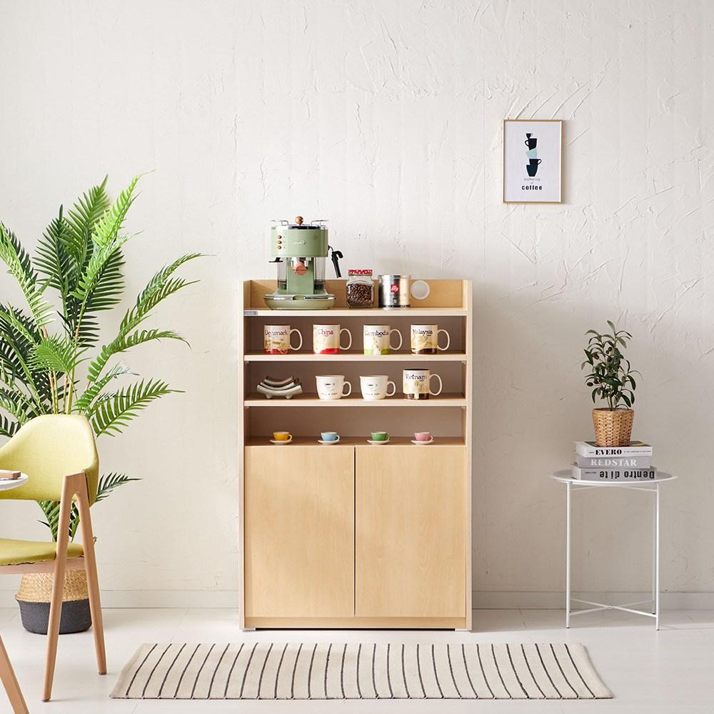 트리니 카페장 그릇장 홈카페 주방수납장, 카페장-자작무늬