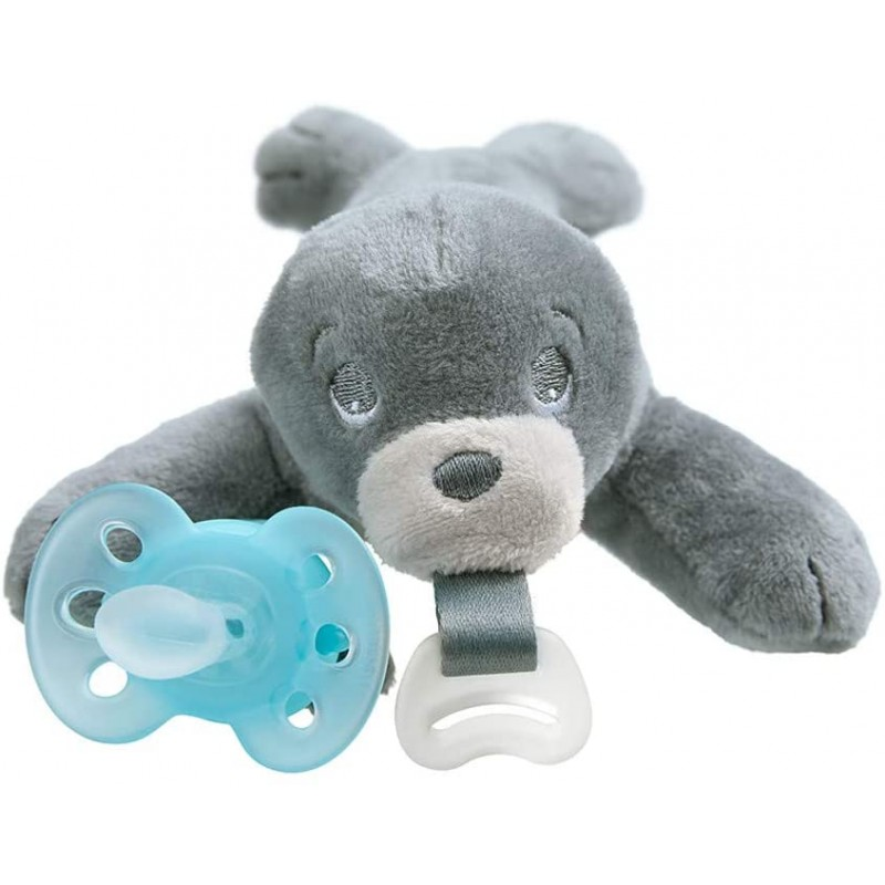 Philips Avent Ultra Soft Snuggle Pacifier 0-6개월 Seal SCF348/04 : 아기, 단일옵션, 단일옵션