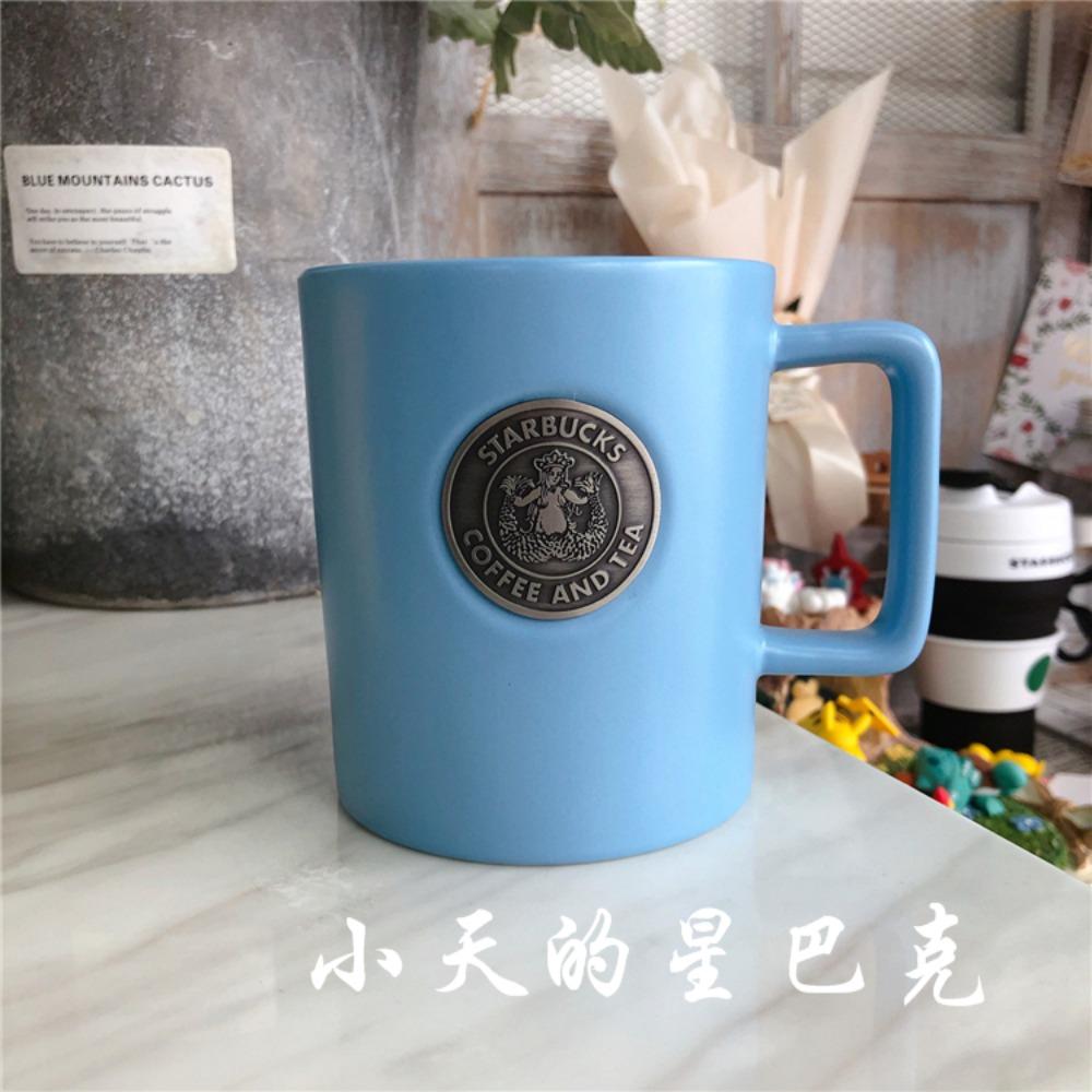 2020 스타벅스 머그잔 심플 커피잔 머그컵 클래식 400ml, 라이트블루