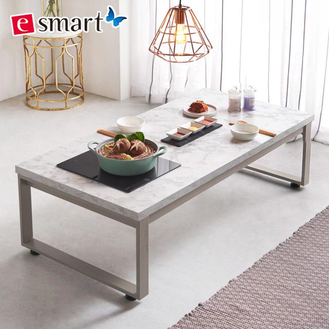 스마트쿡 좌식 식탁테이블 1200x600 불판포함, 카페애쉬