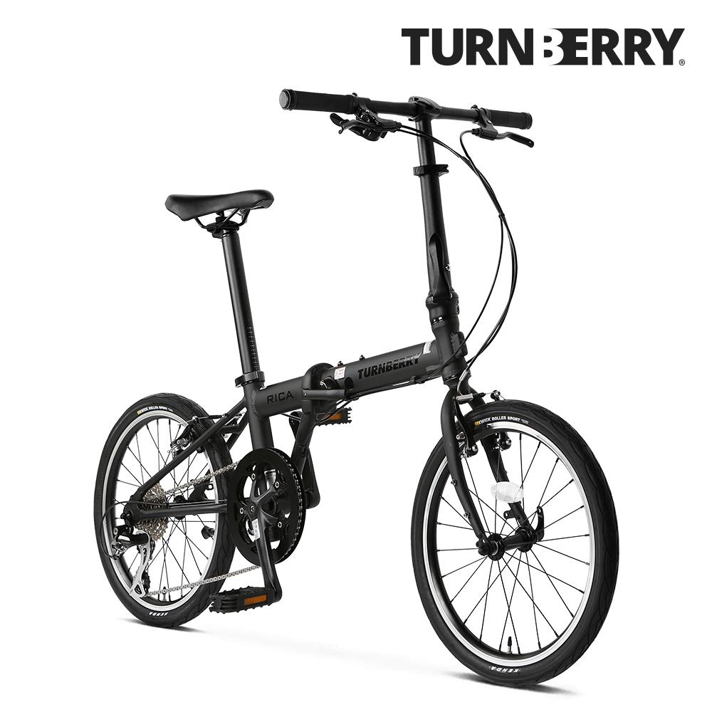 [2021신상+무료완조립] 알톤 턴베리 리카 미니벨로 20인치 시마노8단 접이식자전거, 미조립, 맷블랙