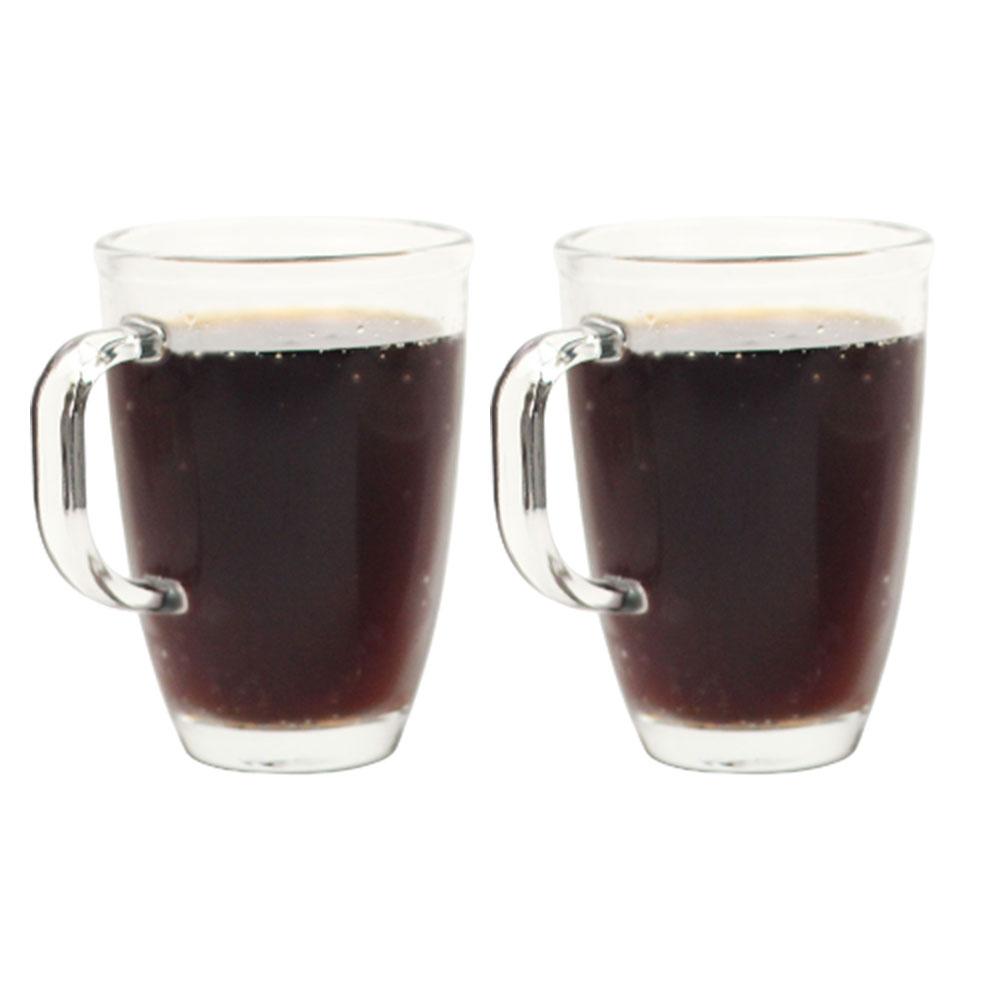 락앤락 내열유리 머그컵 2P세트 360ml 480ml 오븐 손잡이 유리컵 커피잔, 360ml 2P세트