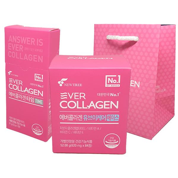 에버콜라겐 UV케어 에이스 84정 + 타임 21g 쇼핑백, 2세트, 84정+21g