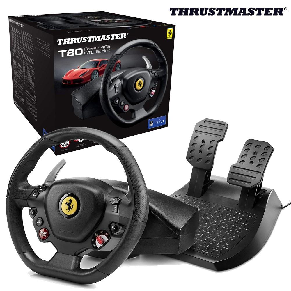 트러스트마스터 T80 페라리 레이싱휠 (PS4 윈도우 한국공식유통), 1개