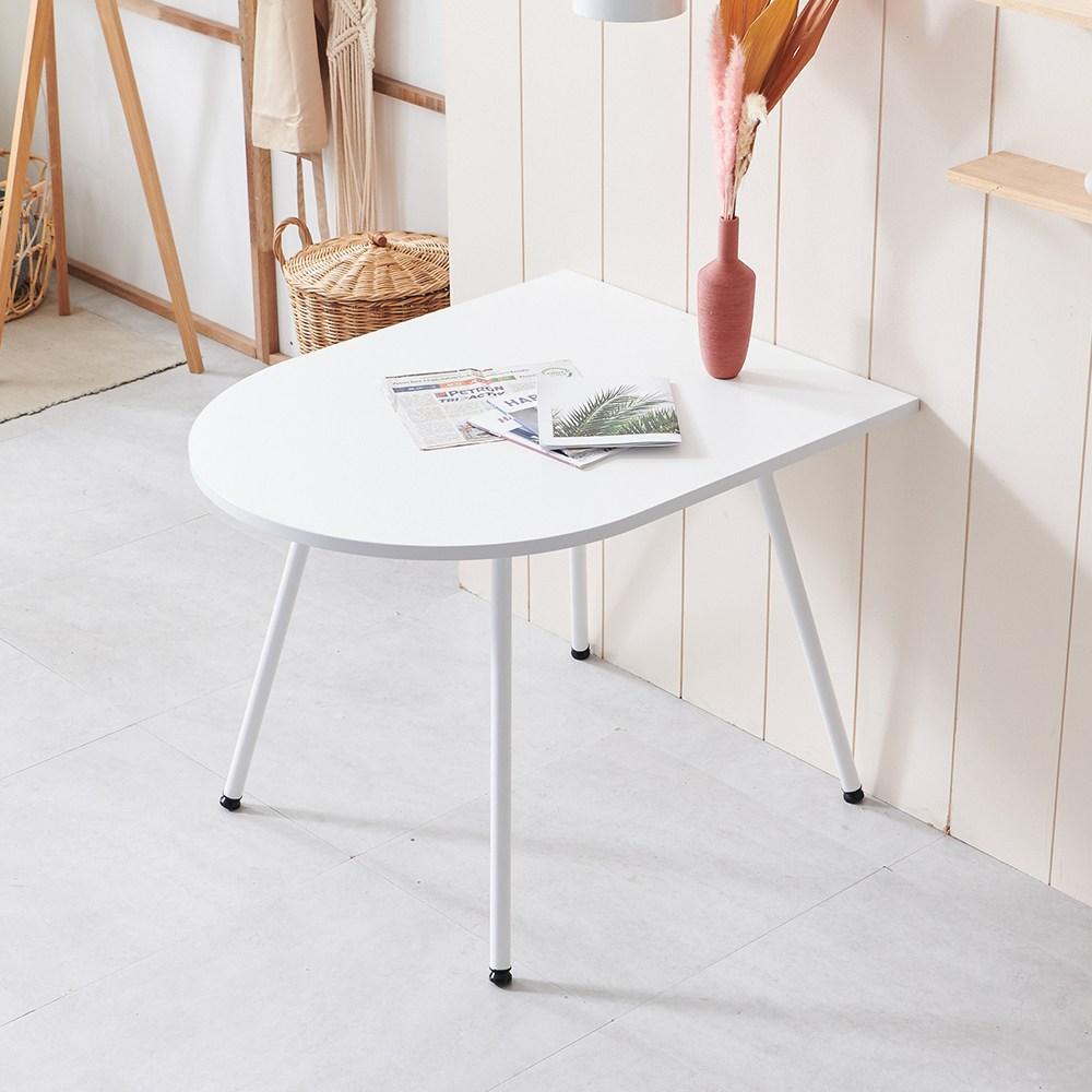 포스트모던 LPM 1000 반타원 2인 식탁 테이블 화이트